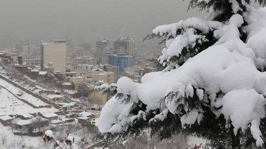 IRAN-WEATHER-SNOW