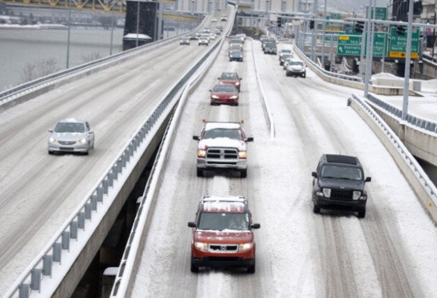 Major Weather System Drops Large Amount Snow On Midwest And Northeast
